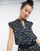 Love Moschino - sort bluse med stjerneprint
