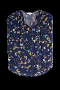 Bluse med flot sommerfuglemønster