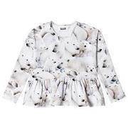 Molo Risa T-Shirt Polar Bear Jersey 92 cm (1,5-2 år)