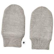 Molo Snowflake Mittens Grey Melange 3-6 mdr