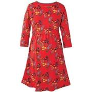 Frugi Red Forest Jersey Smock Dress M