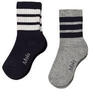 Molo 2-Pack Norman Socks Grey Melange 17-19 (6-9 mdr)