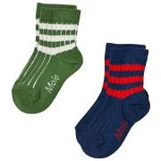 Molo 2-Pack Nickey Socks Field Green 17-19 (6-9 mdr)
