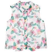 Guess Pink Jungle Print Sleeveless Shirt 2 years