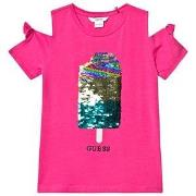 Guess Flippy Sequin Is Tee Fuchsia 14 years