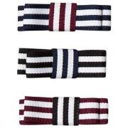 Molo 3-Pack Grosgrain Bow Hair Clips Mixed Stripes One Size