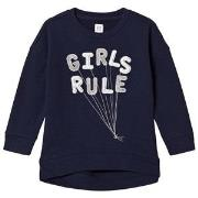 GAP Navy Girls Rule Balloon Sweater XS (4-5 år)