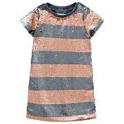 Molo Carol Dress Silver/Blush Stripe 98/104 cm