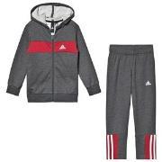 adidas Performance Logo Hoodie and Sweatpants Set Grey/Red 4-5 years (...